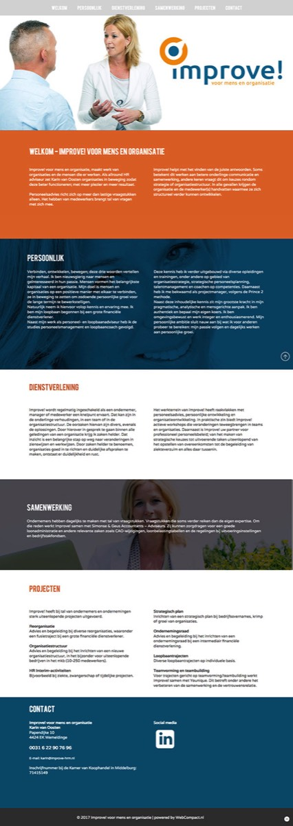 Improve! One Page Design website